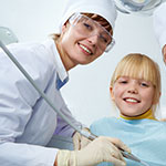 Cary dentists checkup and fluoride treatment